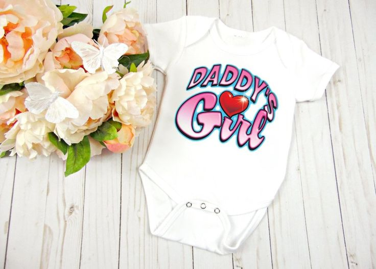 Daddy's Girl Baby Clothes, Baby Shower Gift, Birthday Gift                      – Personalized Baby Clothing