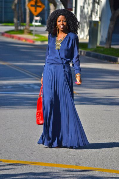 Silk Maxi Wrap Dress