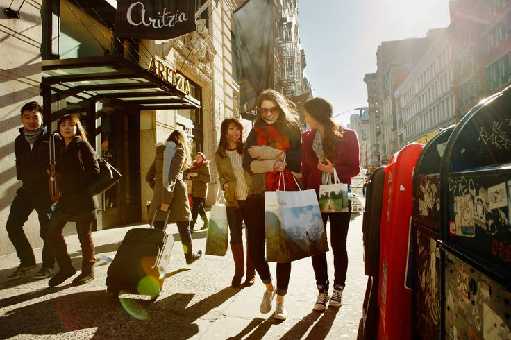 Love this photo by Lee Towndrow outside Aritzia Soho in NYC!