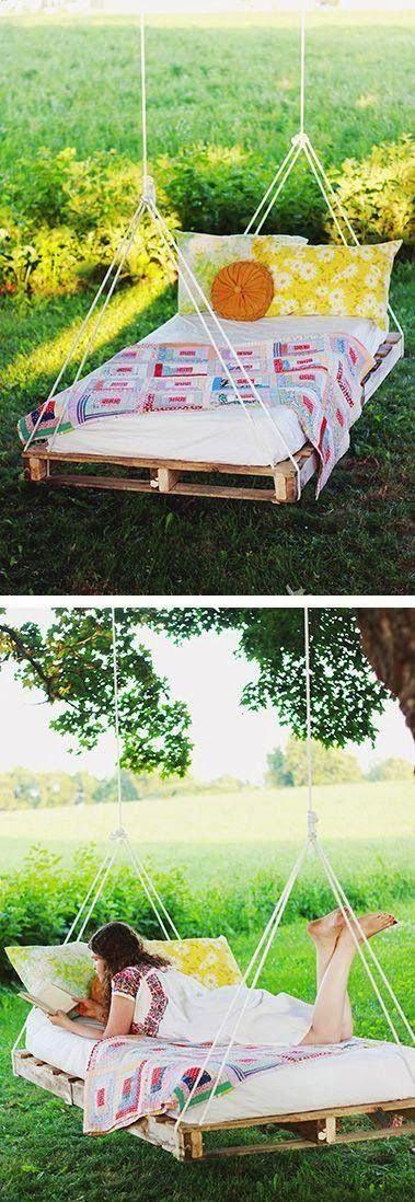 DIY: pallete swinging bed!