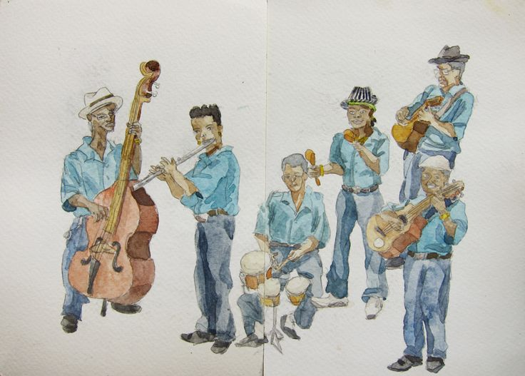 Músicos. Havana, Cuba