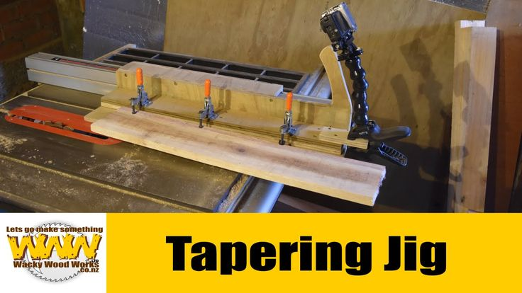 Tapering jig for table saw - Wacky Wood Works