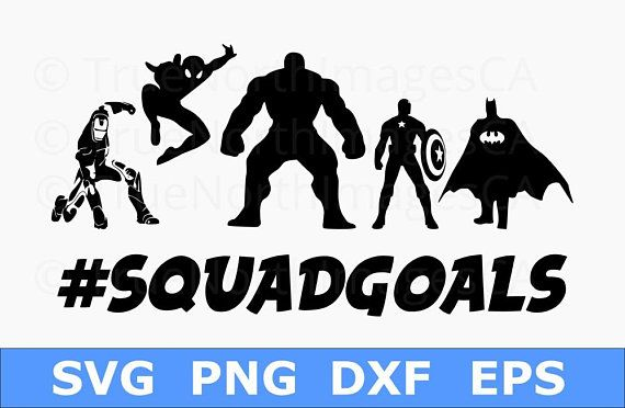 Superhero Vector Superhero Svg Superhero Clipart Captain America Svg Spiderman Svg Batman Svg Squad Goals Svg Cricut Người Nhện