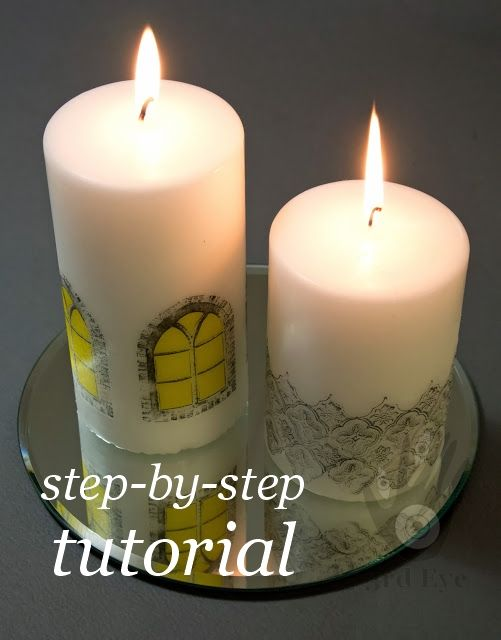 MAKE YOUR OWN #DECORATED #CANDLES! AWESOME #idea for decorating home or making one of a kind #gifts:) #Tutorial by Elina Strömberg on the 3rd Eye blog: http://3rdeyecraft.blogspot.com/2013/11/decorated-candles.html <3 #gift #xmas #christmas #stamp #stamping