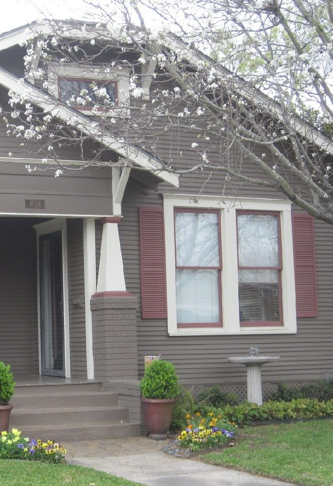 Gray White Amp Maroon Exterior Color Schemes Pinterest