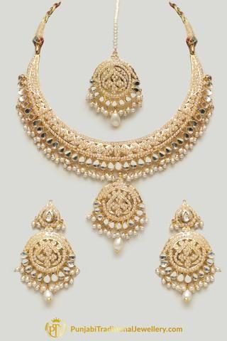 4901b78f45 Jadau Necklace Sets - Best Punjabi Jadau Necklace Sets Online | Punjabi Traditional  Jewellery