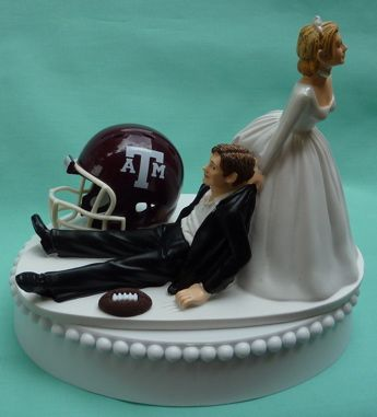 Wedding Cake Topper - Texas A&M; University Aggies - Mitchell's cake topper (if i can find it!)