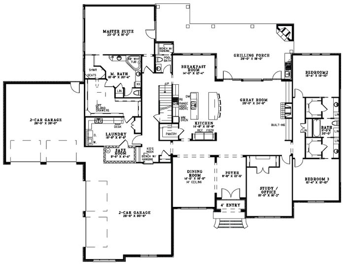 Pin by leah strejcek on floor plans pinterest Jack and jill house plans