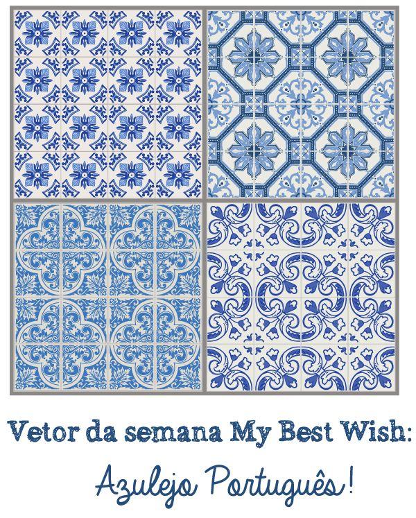 Vetor gratis, free vector, vetor-azulejo-portuguê-grátis