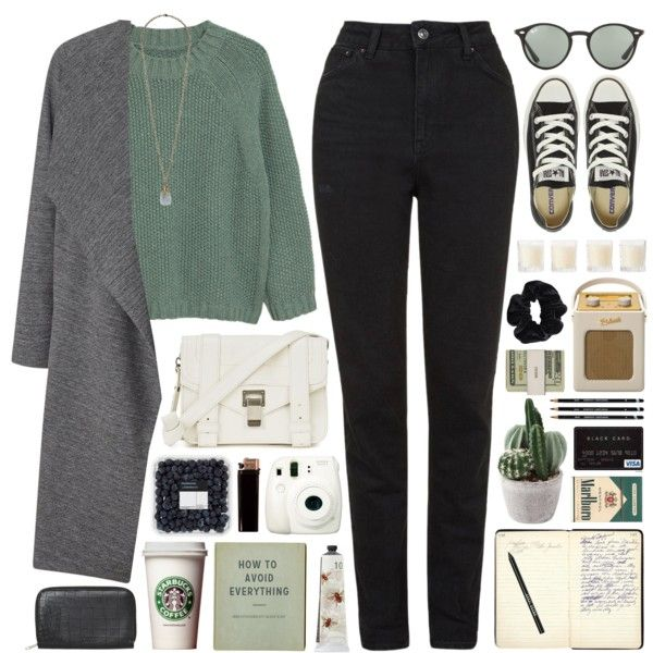 241016 by rosemarykate on Polyvore featuring MANGO, Miss Selfridge, Topshop, Converse, Proenza Schouler, Monki, Forever 21, Ray-Ban, American Apparel and Bobbi Brown Cosmetics