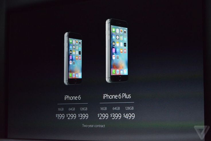 iPhone 6S and iPhone 6S Plus release date September 25th, prices start at $199 and $299 for 16GB