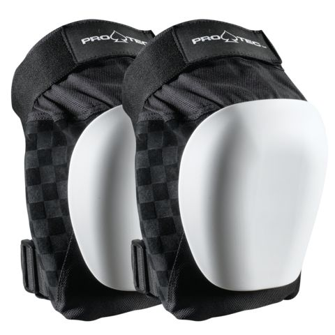 Protec Drop-in Knee Price:$139.00 SIZE: Small/Medium Large/X-Large The Drop-In Pads are the pinnacle of transition protection design, offering a lightweight, anatomical fit, and a low-profile, dual-layered EVA foam interior, which takes the impacts and keeps the pads comfortable for all-day use. Equipped with a built-in wear indicator on the kneecap so you know when it's time to replace the caps.
