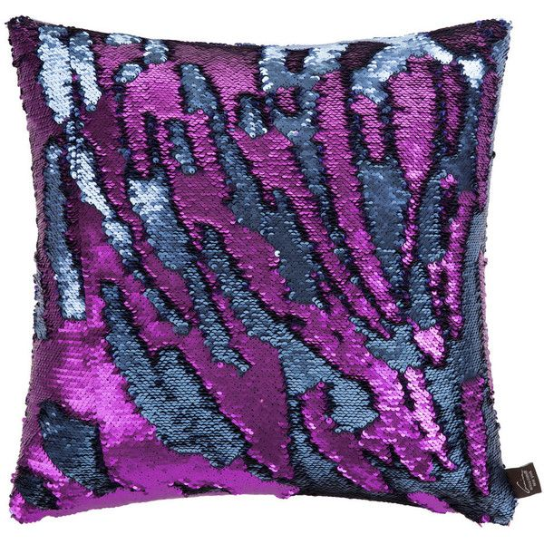 Aviva Stanoff Two Tone Mermaid Sequin Cushion - Purple Haze - 45x45cm (105 NZD) ❤ liked on Polyvore featuring home, home decor, throw pillows, purple, colored throw pillows, purple throw pillows, purple home accessories, purple toss pillows and aviva stanoff