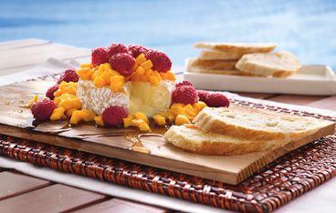 Cedar-Planked Brie and Berries