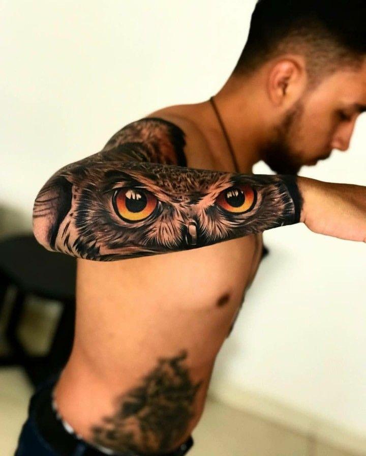 Tatts Tattoo Owl Realism Owl Eye Tattoo Cool Forearm Tattoos Owl Tattoo Sleeve
