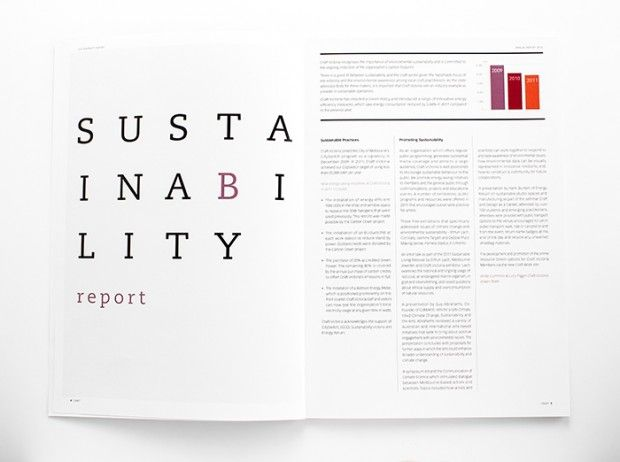 Craft Victoria annual report - design inspiration Design Layout - company annual report sample