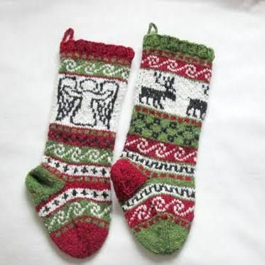 45 best Christmas stockings images on Pinterest   Knitting, Candy ...