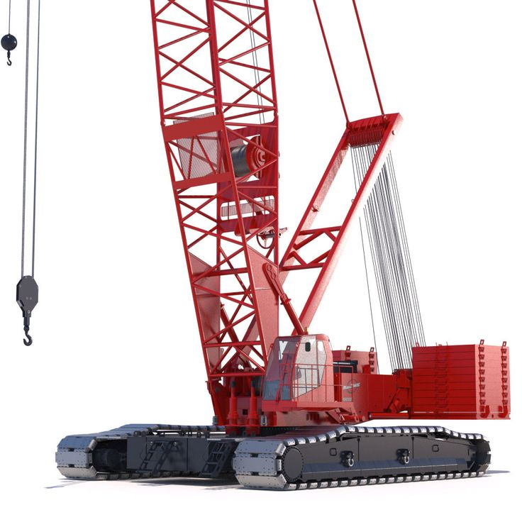 Manitowoc 16000 Crawler Crane 3D Max - 3D Model