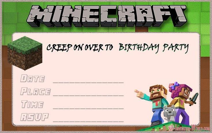 minecraft birthday card pdf