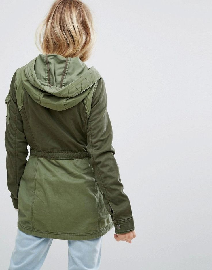 Hollister Parka Utility Jacket - Green