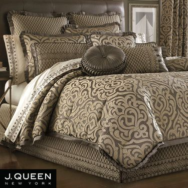 Luxembourg Comforter Bedding by J Queen New York | Taupe ...
