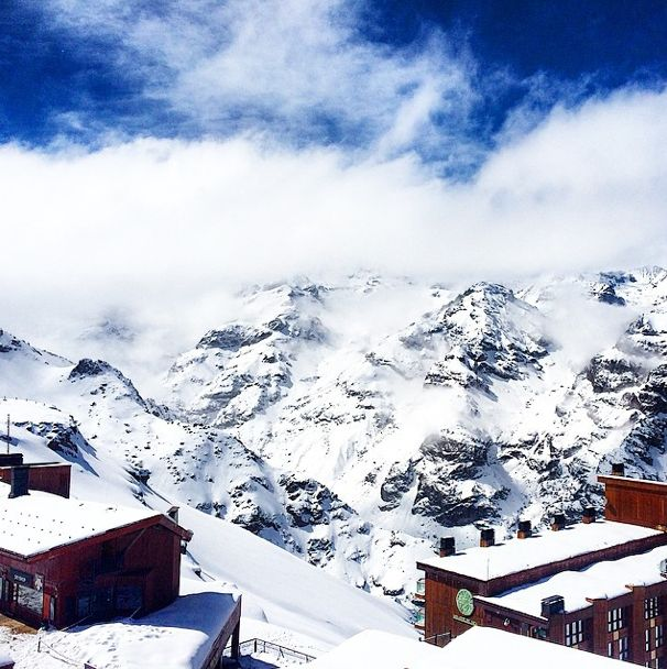Snowboarding the Andes Mountains at Valle Nevado Ski Resort