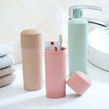 1 pcs de palha de Trigo caixa de escova de dentes criativo copo escova de dentes escova de dentes portátil wash gargarejo copo escova de dentes de viagem de armazenamento(China (Mainland))