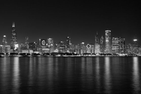 Photo: Chicago Cubs World Series Champions Skyline 2016