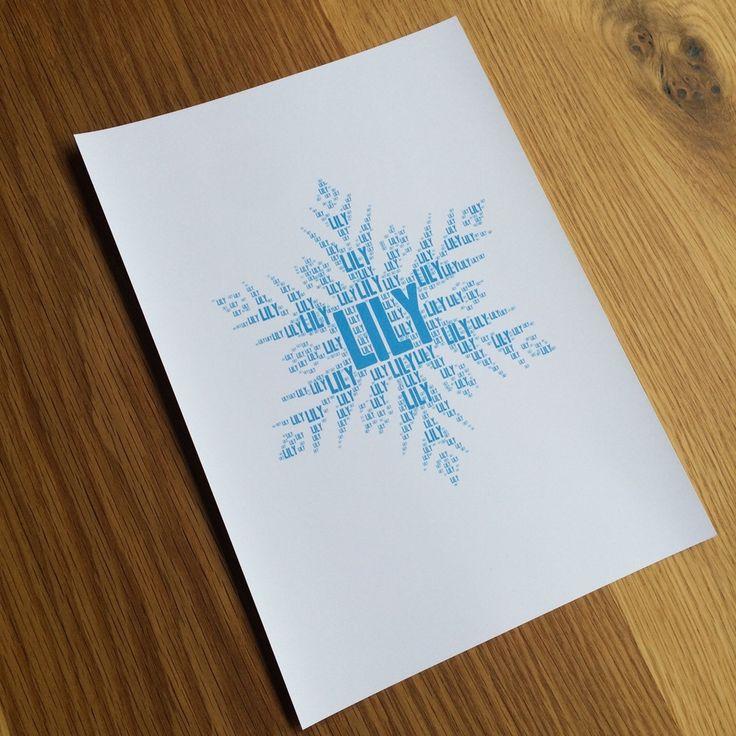 FROZEN SNOWFLAKE NAME IT PRINT