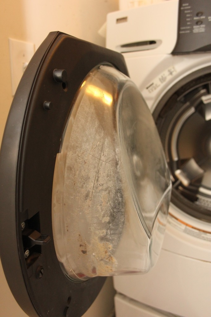 how to clean front load washer door
