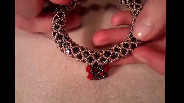Netted Technique DIY - with swarovskys and seed beads