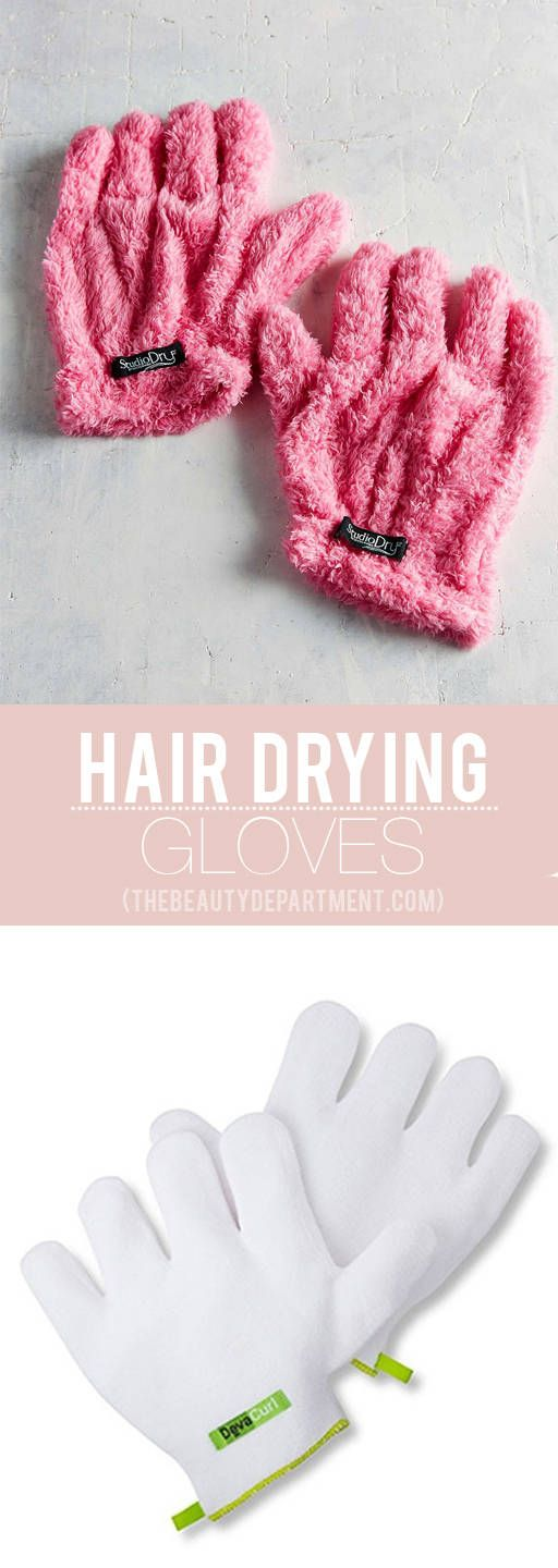 So... Hair drying gloves are a thing and we are in love.