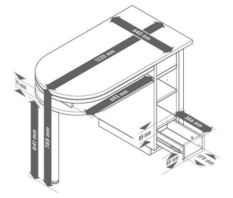 Variálható asztal 314953 a Tchibo-nál.