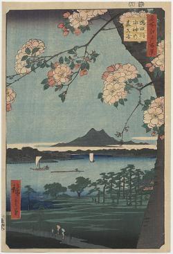 Hiroshige Suijin Shrine and Massaki on the Sumida River