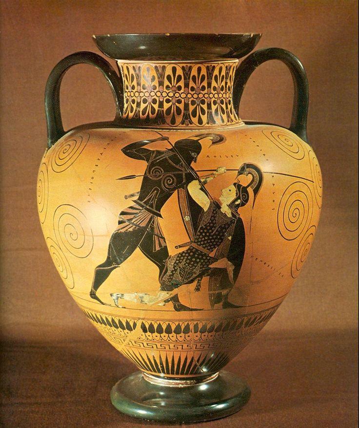 Achille & Penthésilée - the British Museum - civilisation grecque - céramique