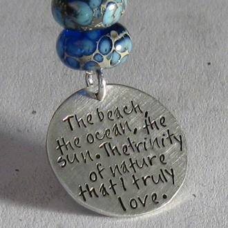 This is a beautiful piece - I love the saying on it.