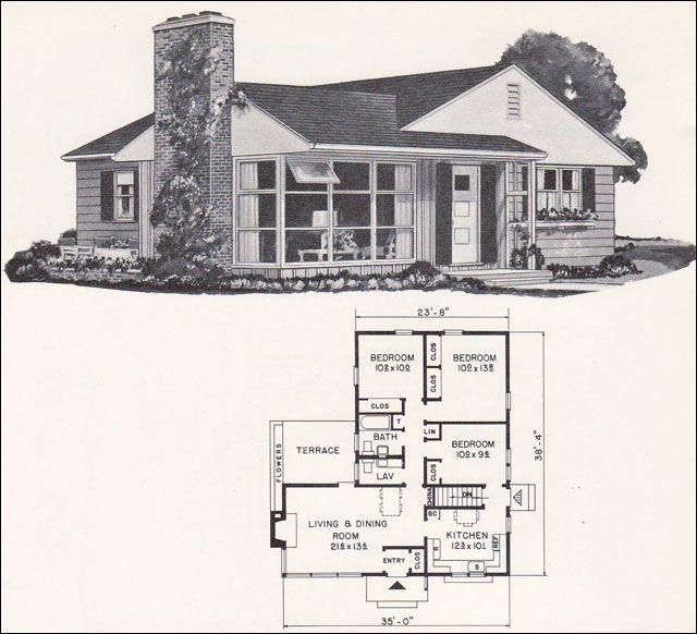 17 best images about retro house plans on pinterest mid for Mid century modern ranch style house plans