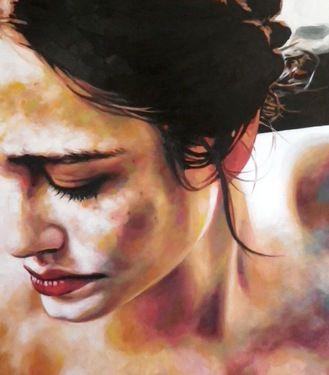 """Saatchi Online Artist thomas saliot; Painting, """"Eva close up"""" #art"""