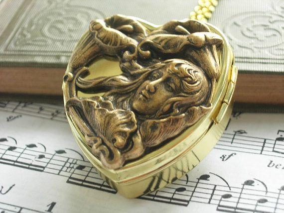 Tiny Music Box Locket  choose your tune by clockworkfantastica, $90.00