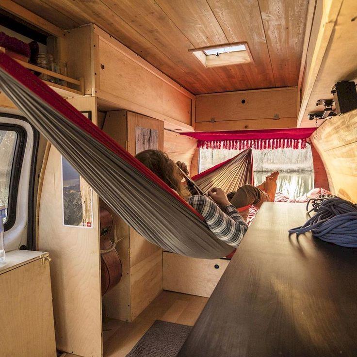 Camper van interior design and organization ideas (75)