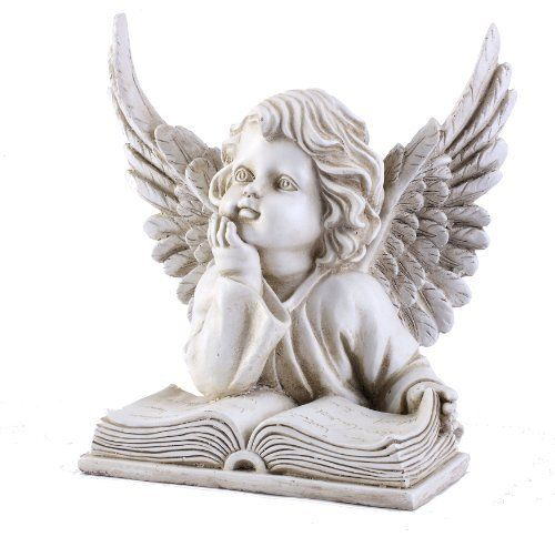 napco angel with book garden statue 8 14 inch tall by napco 2999 makes a lovely gift statue depicts an angel with an open book - Open Garden Decor