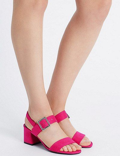 Block Heel Sandals with Insolia®   Marks & Spencer London