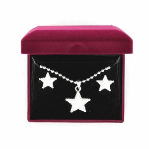 Lightning Ridge Engraved Star Necklace Set-29971