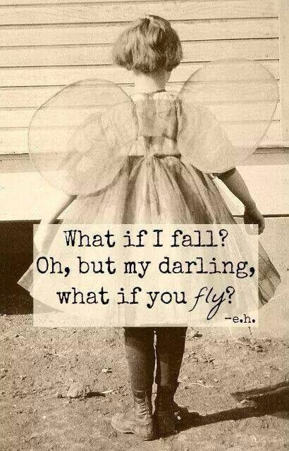 Never think of yourself as falling... think of it as flying, downward, really, REALLY, fast