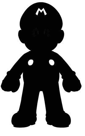 Mario Silhouette by Ba-ru-ga on DeviantArt