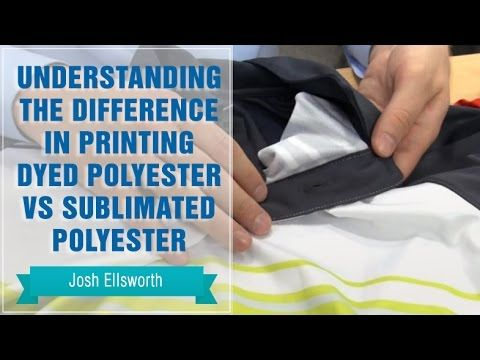 Heat Press Polyester: Difference in Dyed Polyester vs Sublimated Polyester - YouTube