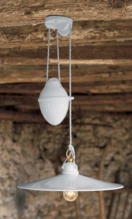 Tesa 115 ceramic pendant aldo bernardi italian lighting
