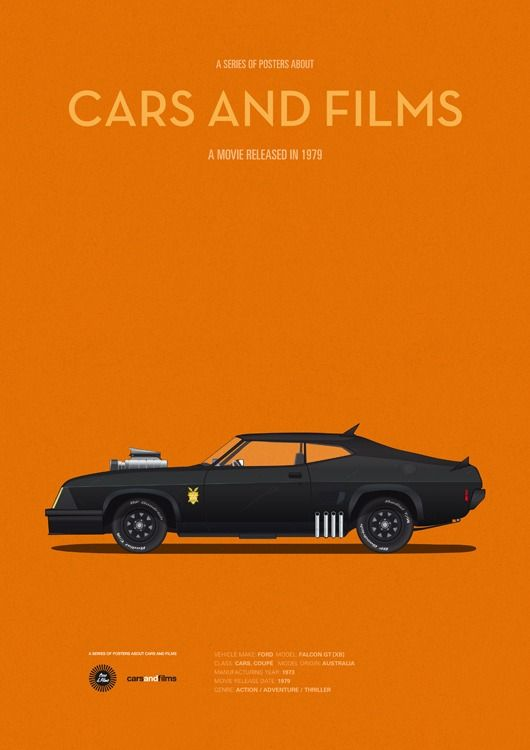 Best Jesús Prudencio Images On Pinterest Movie Cars Movies - Famous movie cars beautifully illustrated