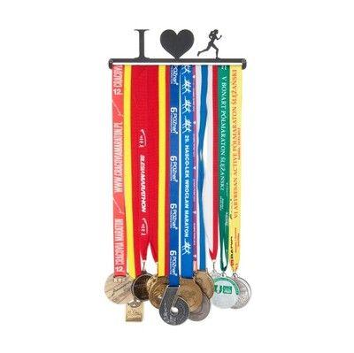 Wieszak na medale - I (serce) BIEGACZKA - 28 cm