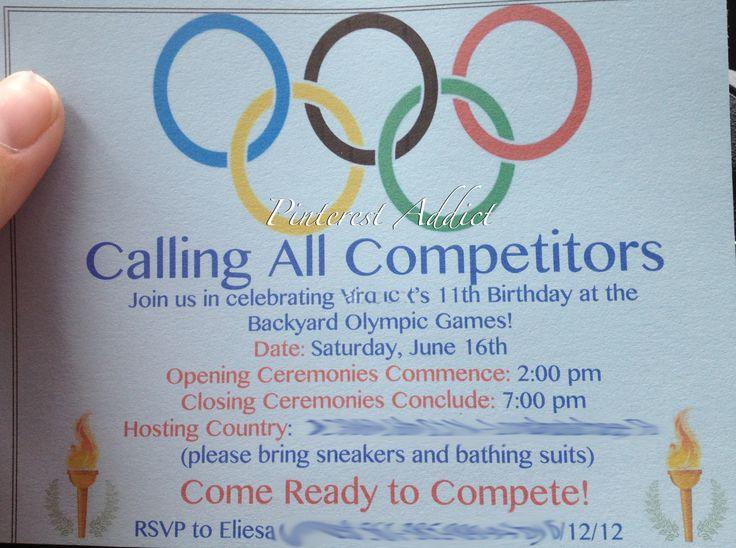 Olympic Invite